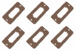 PL-28 Peco: Switch Mounting Plate (6 pack)